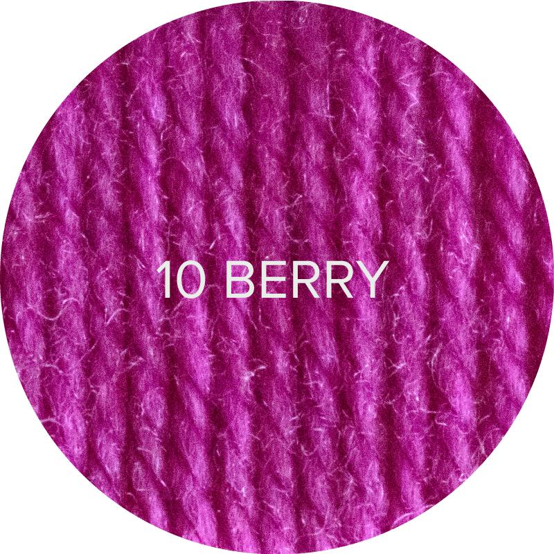 Fluffy Fingering merino sock yarn in color 10 Berry