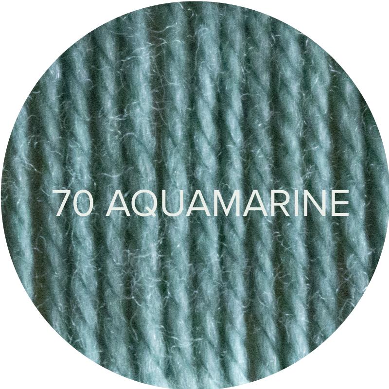 Fluffy Fingering merino sock yarn in 70 Aquamarine