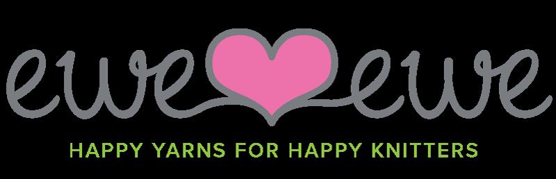 Ewe Ewe Yarns logo with heart