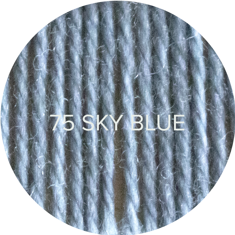Wooly Worsted yarn from Ewe Ewe in Sky Blue