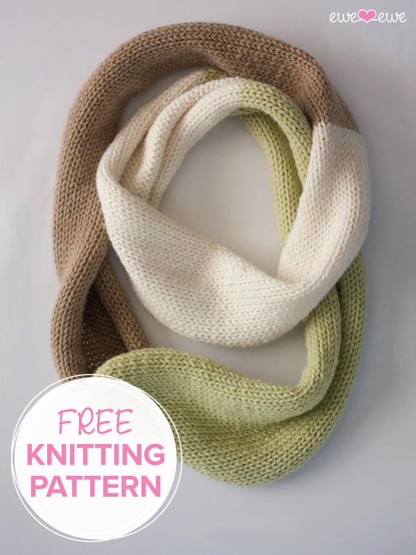 Compatto Cowl FREE knitting pattern by Ewe Ewe Yarns