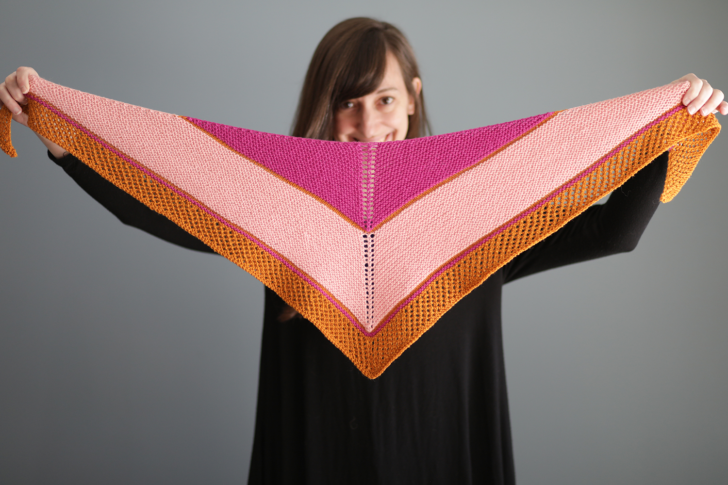 Sporty Forty  shawl designed by Elizabeth Smith