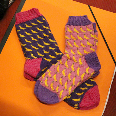 These Socks Are Bananas  project on Ravelry by  rebelheart77