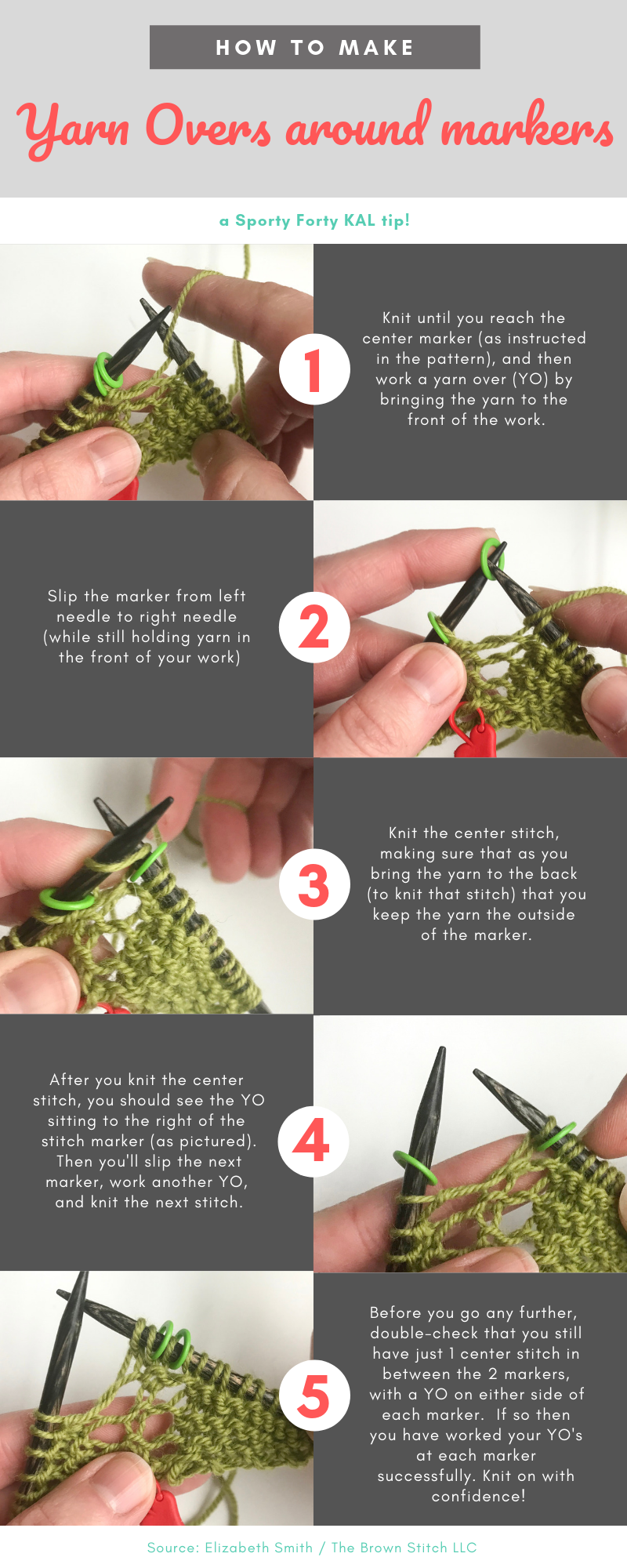 How to work a yarn-over (YO) in knitting