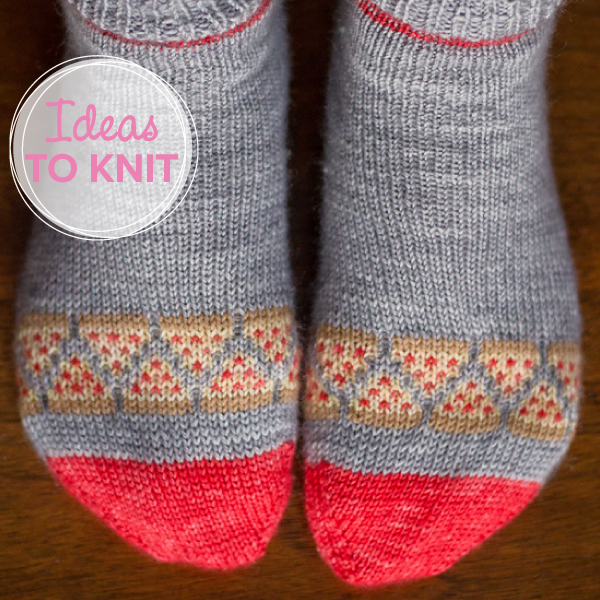 Pizza Party Socks  by Emma Kerian on Ravelry