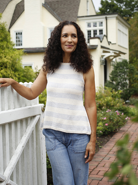 Cara  a-line tank top knitting pattern by Amy Christoffers