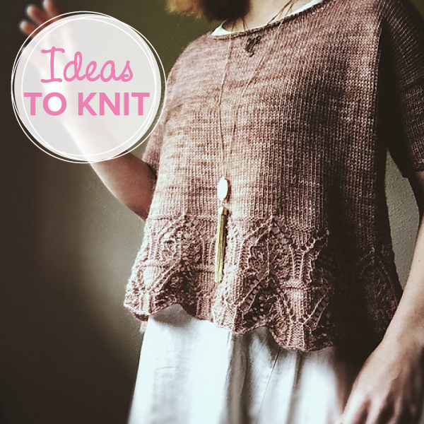 Tegna  lace tee knitting pattern designed by Caitlin Hunter