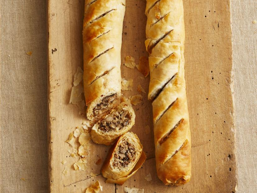 Sausage & Mushroom Strudel by Ina Garten