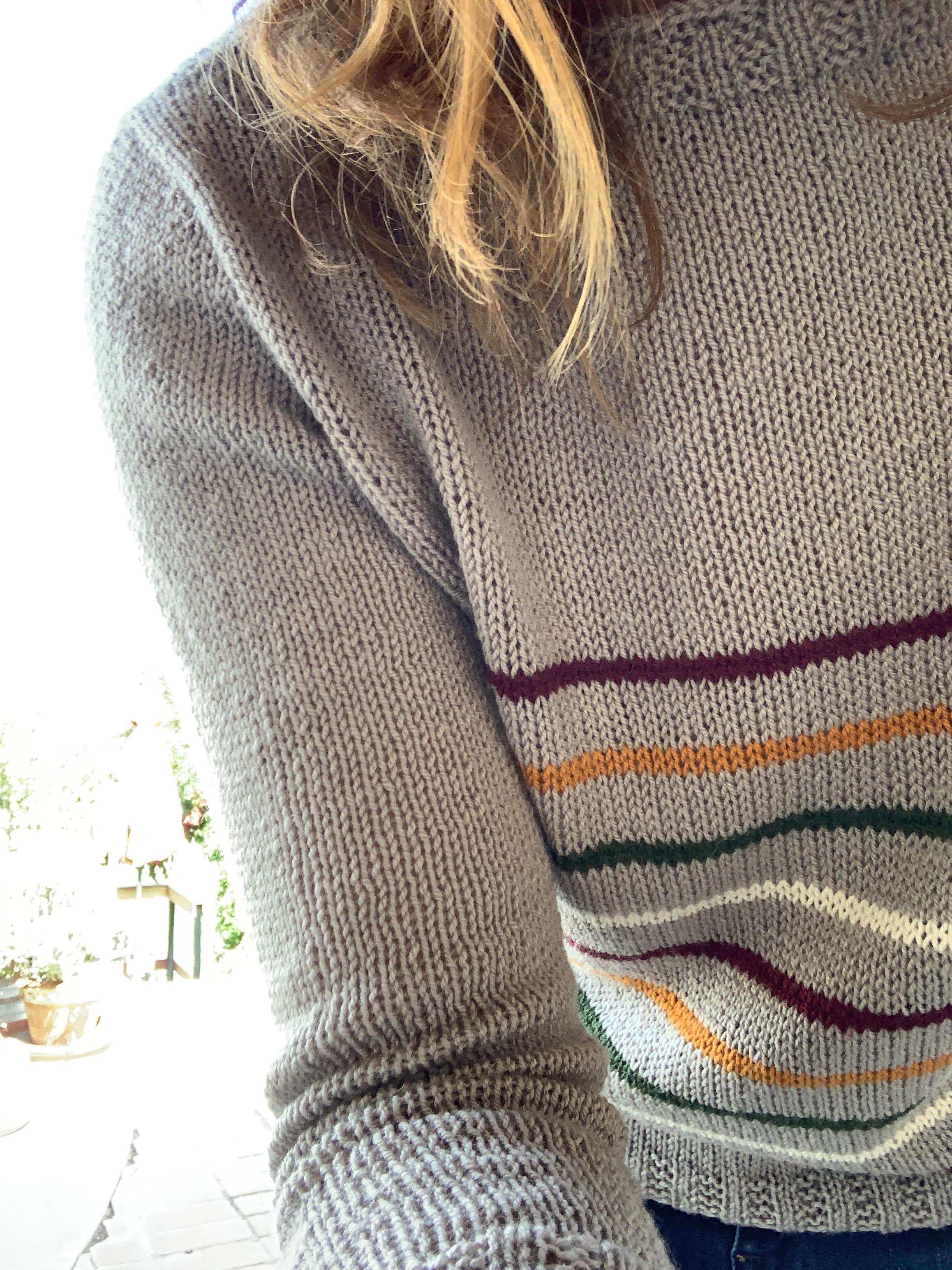 New sweater design coming in  Fluffy Fingering merino yarn