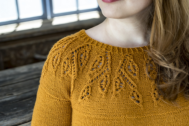 Spirit of Trees  sweater pattern by Irina Anikeeva using  Ewe So Sporty merino yarn