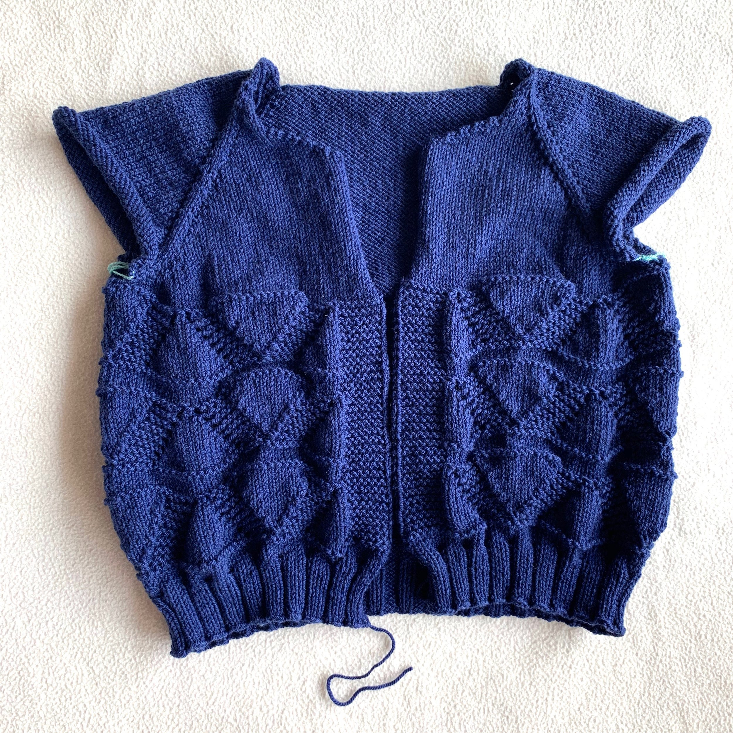 Foxtrot Cardigan in Wooly Worsted merino yarn