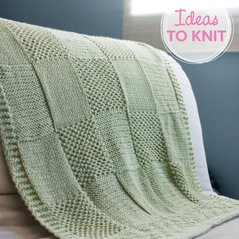 Charles + Chelsea  baa blanket knitting pattern
