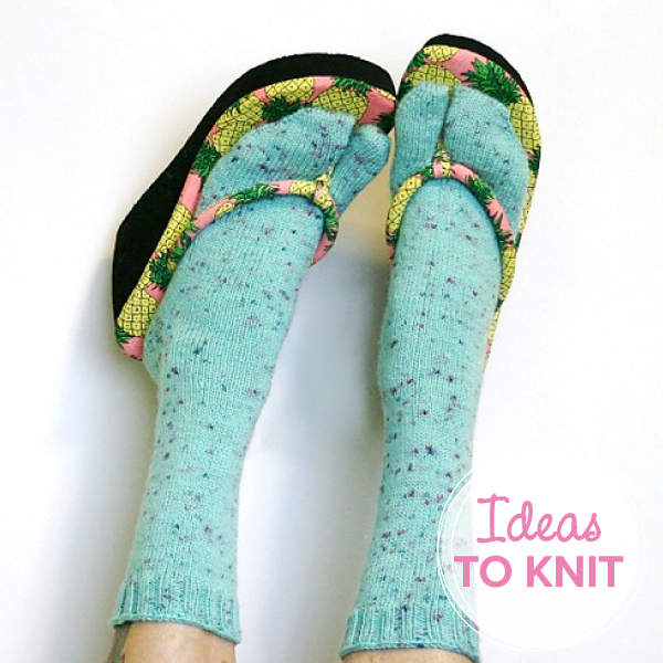 Sidewalk Talk Flip-Flop Socks  by Staci Perry