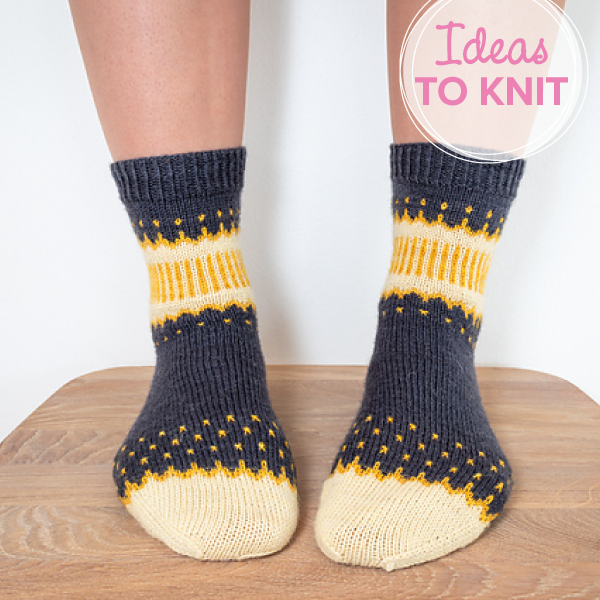 Starry Night Socks  by Linda Fridholm