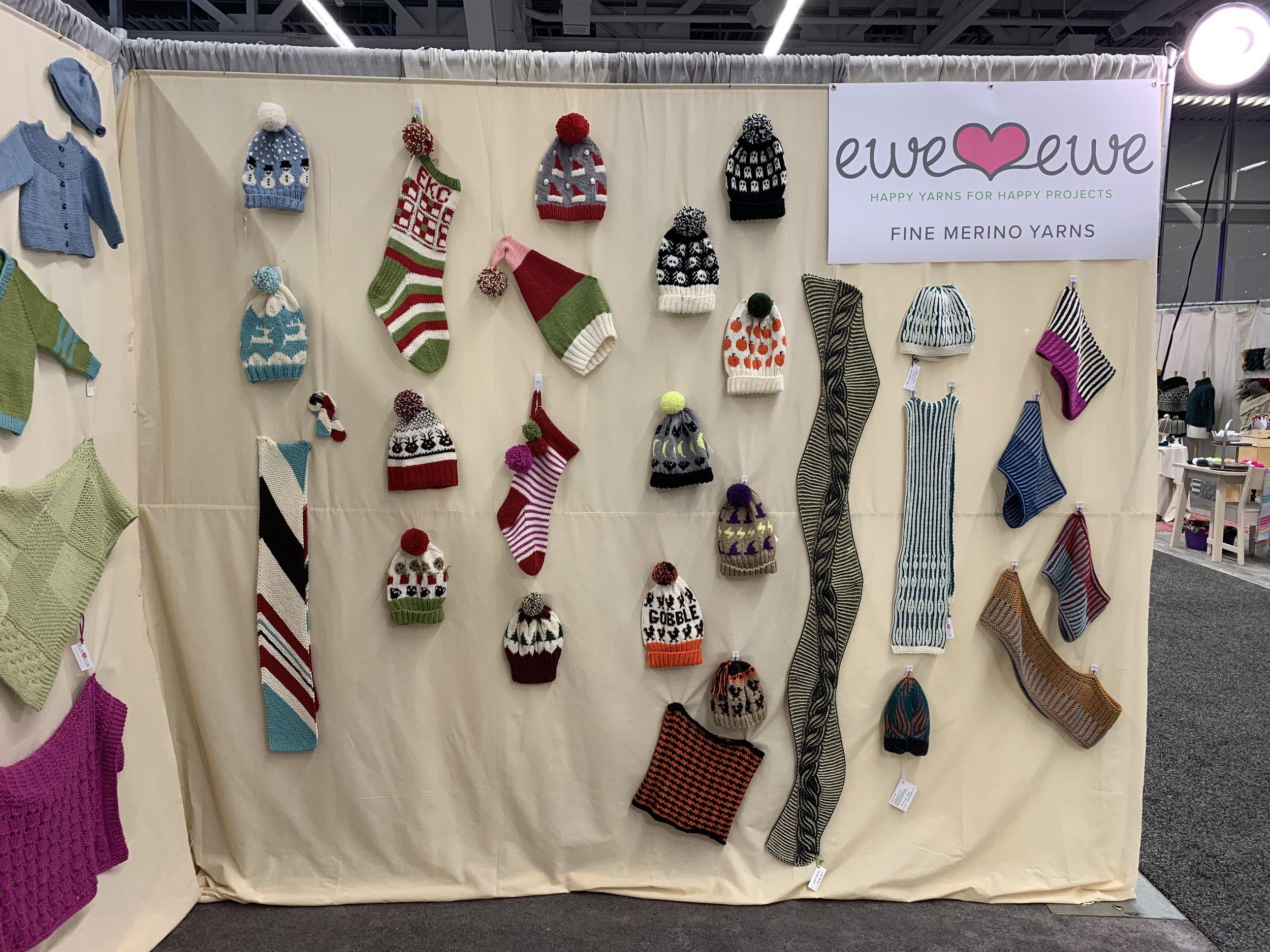 Ewe Ewe Yarns trade show booth