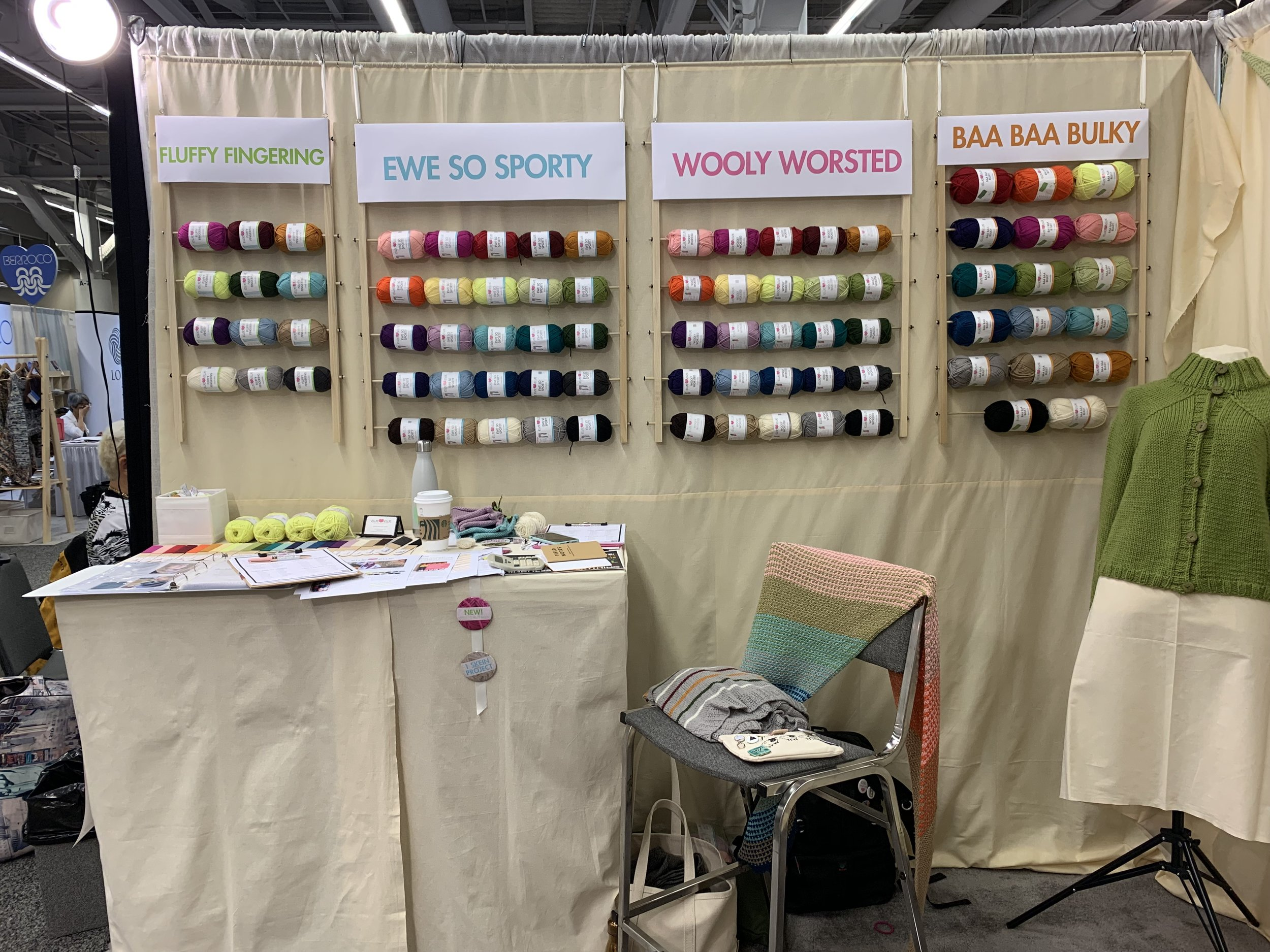 Ewe Ewe Yarns yarn wall!