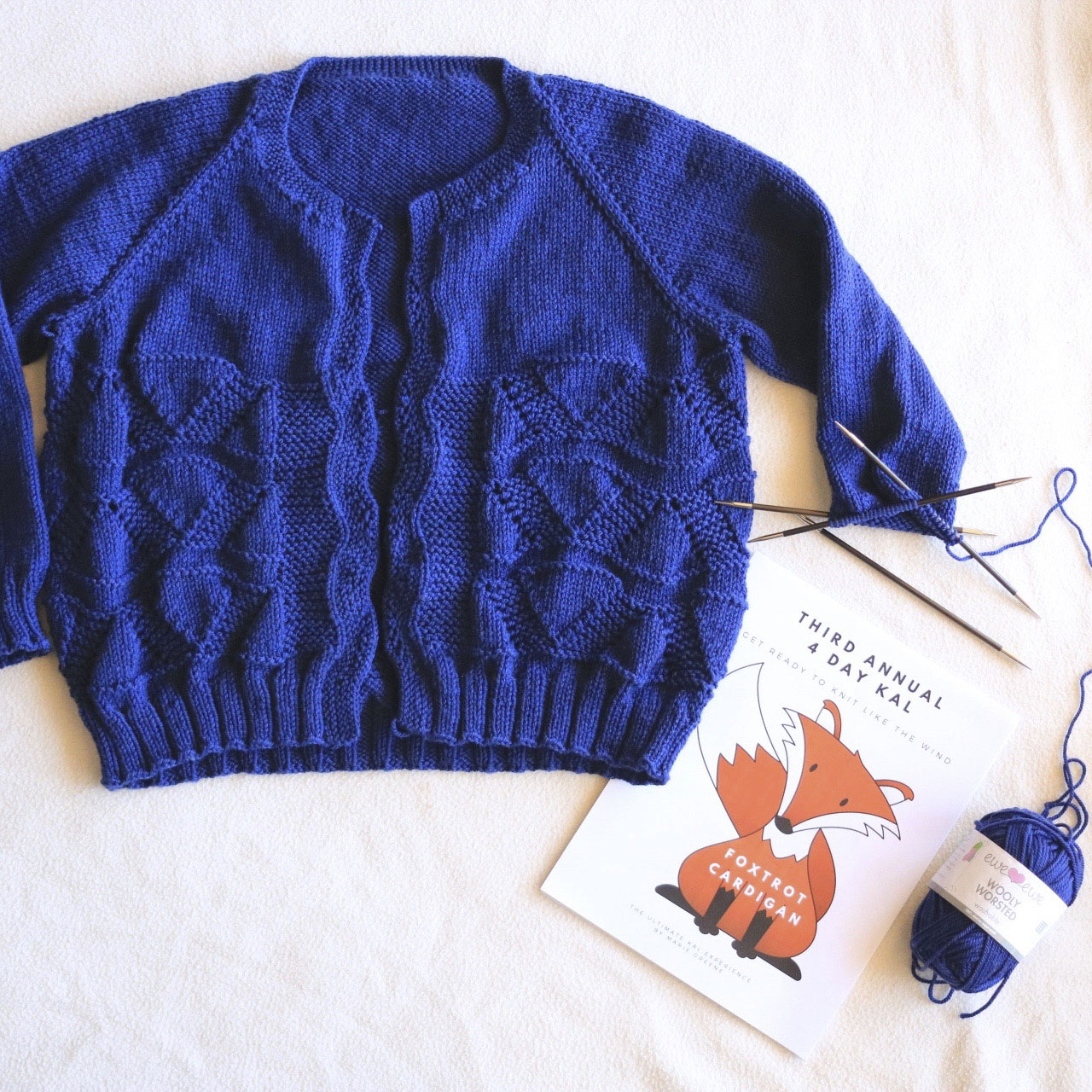 Foxtrot Cardigan using Wooly Worsted yarn
