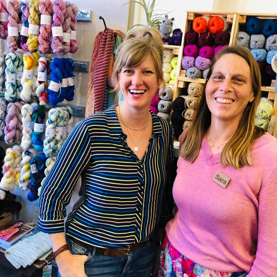 Heather and Sara at Apricot Yarn