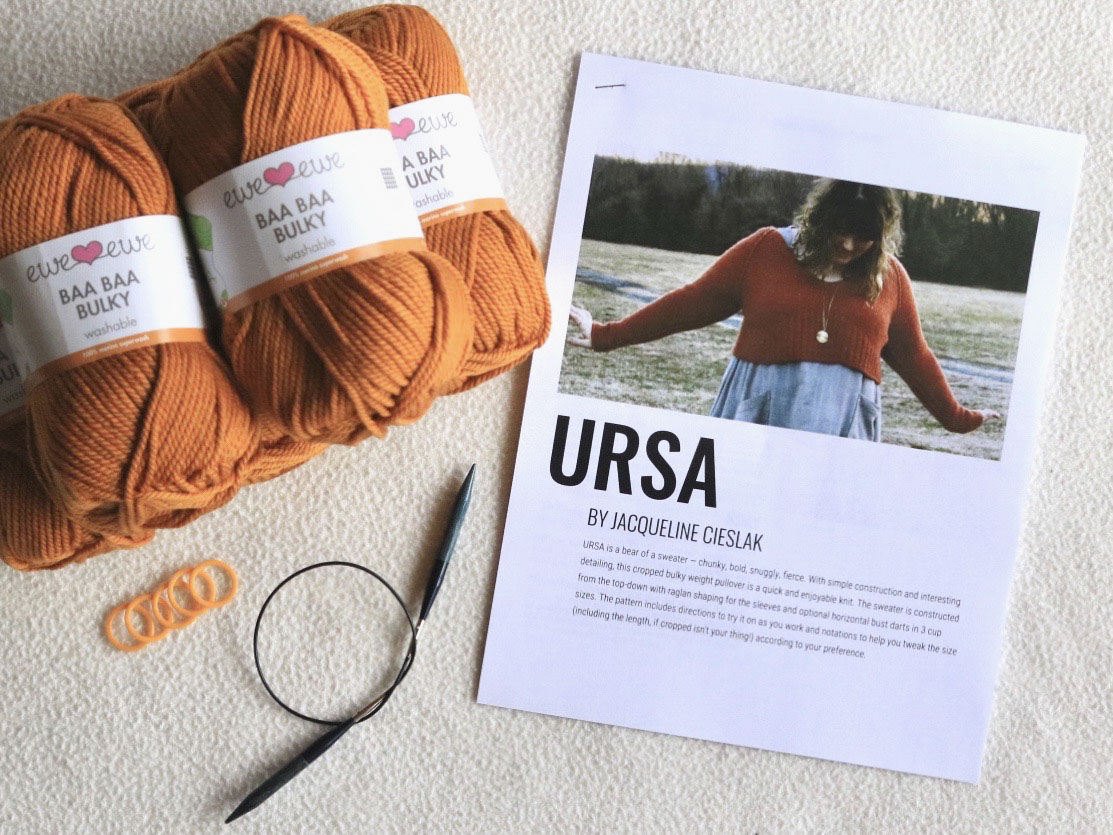 Baa Baa Bulky merino yarn  ready to knit!