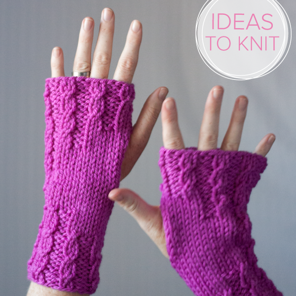 Born to be Warm  wrist warmer knitting pattern by Heather Walpole for Ewe Ewe Yarns