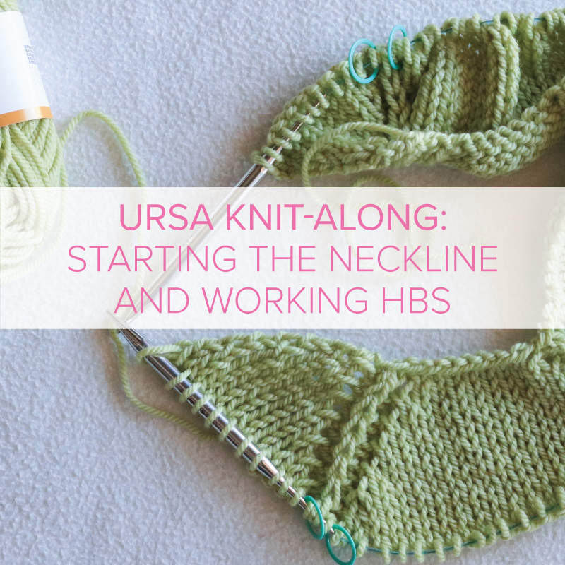 Ursa Sweater Knit-Along: Starting the neckline and working a half-brioche stitch.