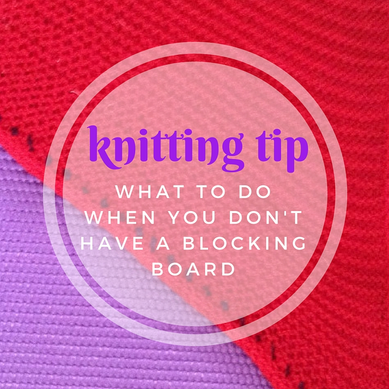 Use a yoga mat to block large knitting projects