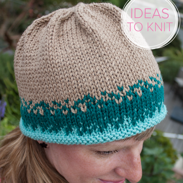 Sand + Sea Hat knitting pattern by Heather Walpole for Ewe Ewe Yarns