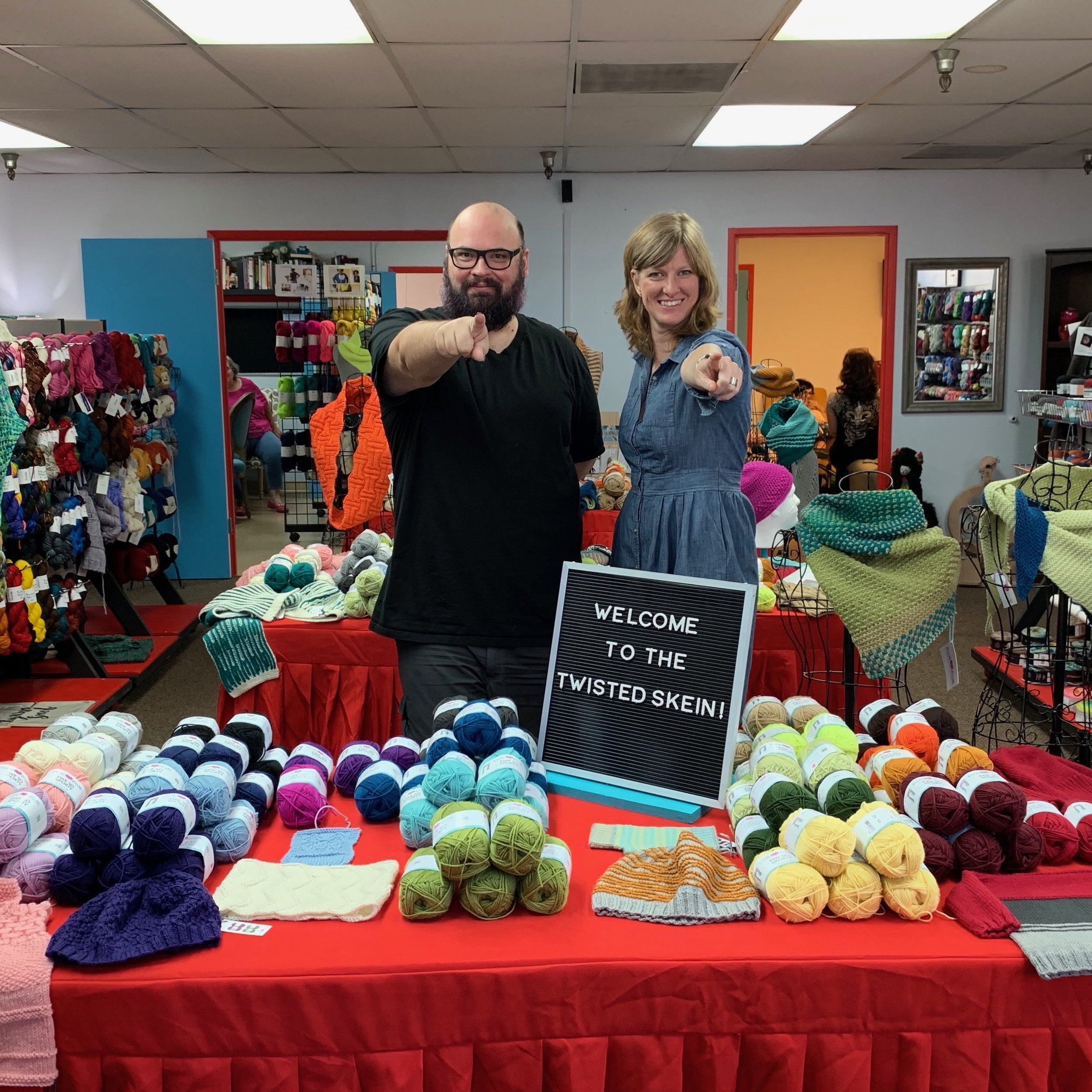 Ron and Heather at The Twisted Skein