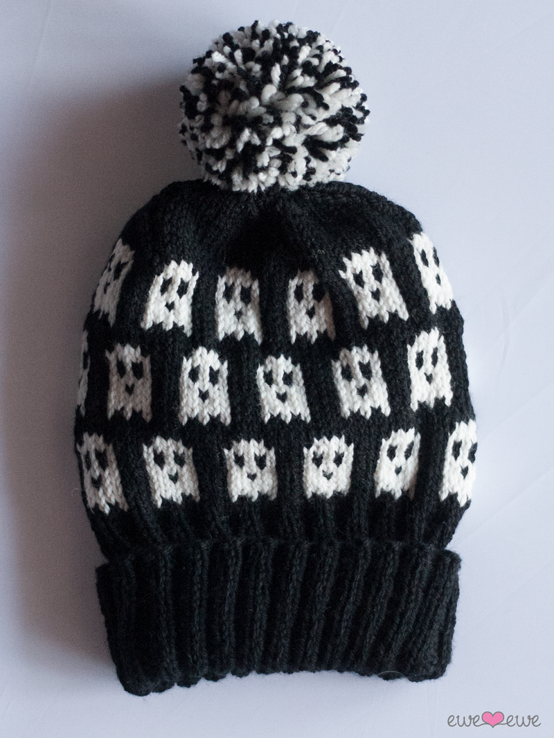 Pattern of the week: Ghosts + Widows Halloween hats using Wooly Worsted merino yarn