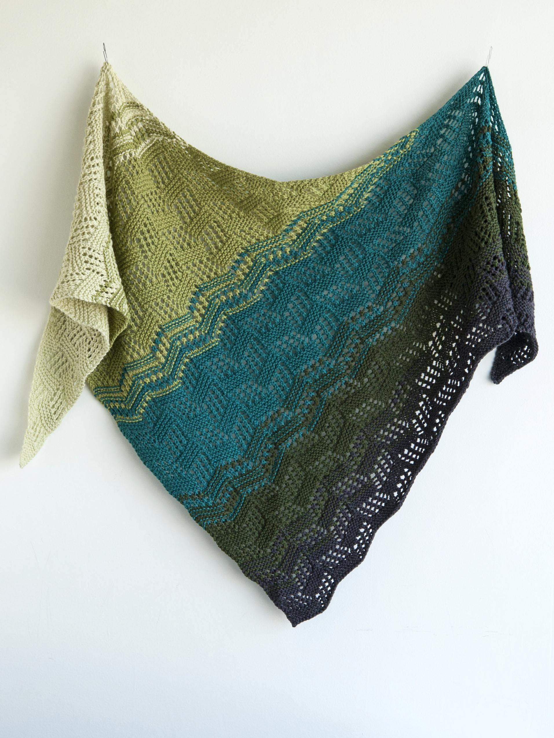 Tilted Tiles shawl knitting pattern