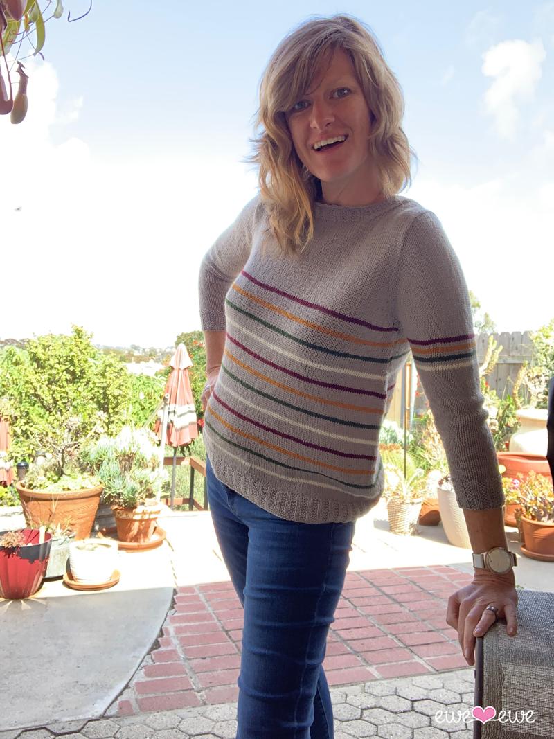 Fluffy Stripe Sweater knitting pattern