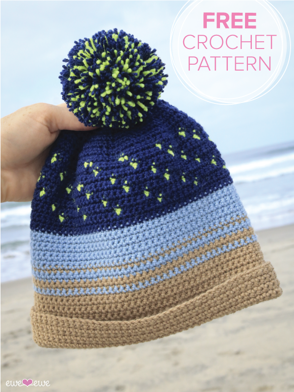 Night Surfer  FREE crochet beanie pattern
