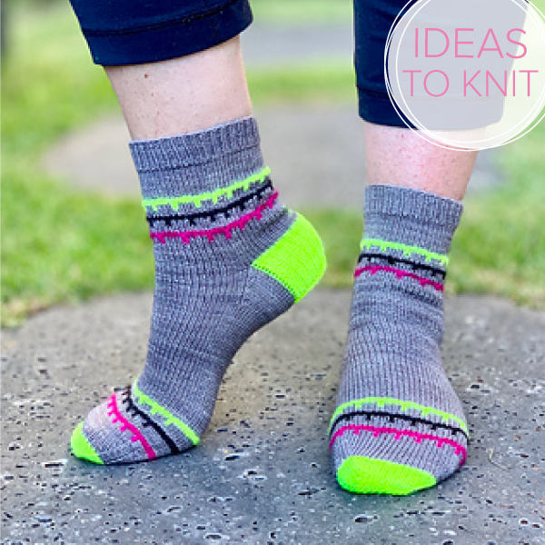 On the Porch  socks knitting pattern by Tracie Millar