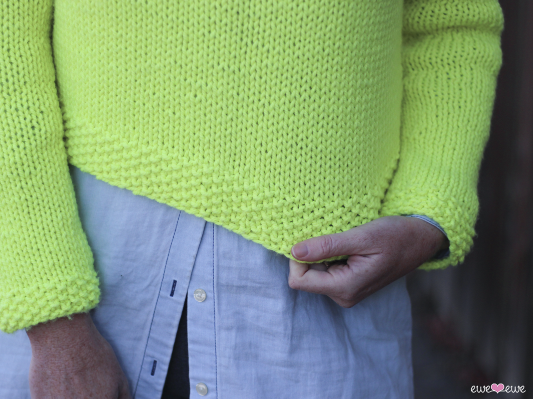 Pop Top  knitting pattern with seed stitch details