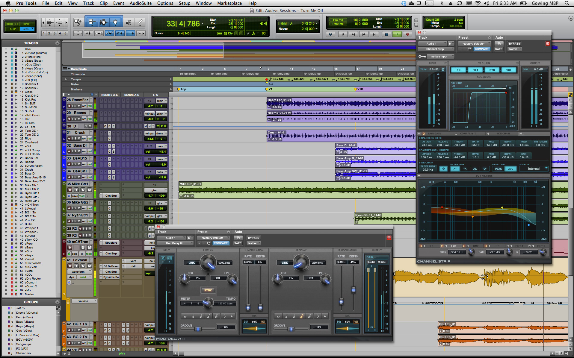 Pro Tools interface
