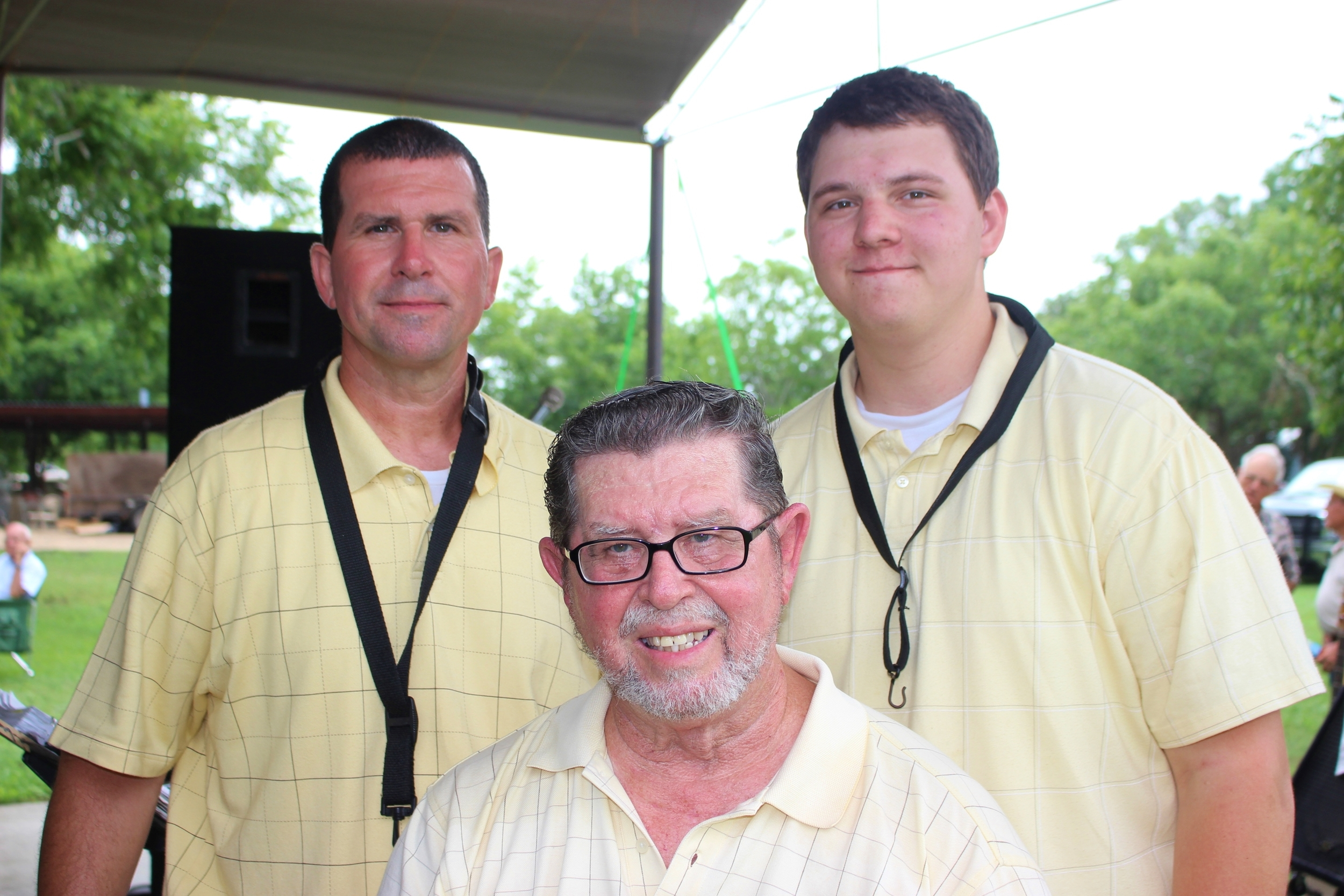 Scott, Brandon, and Fritz Hodde at the Ammansville Picnic on June 21, 2015./Gary E. McKee photo