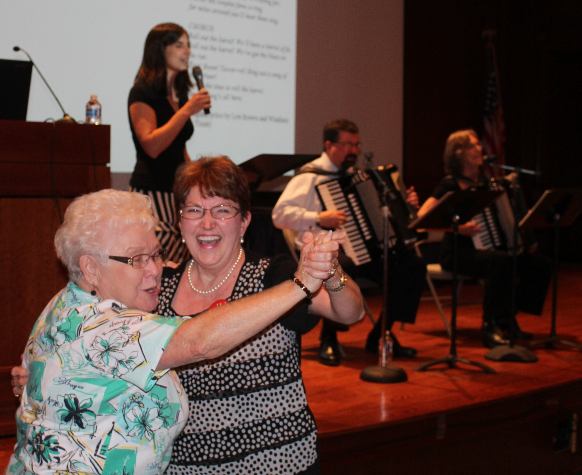 Where there's music, there's dancing, especially when it's Czech polka music! A crowd of 125 enjoyed the presentation in Austin./Gary E. McKee photo  See more photos .