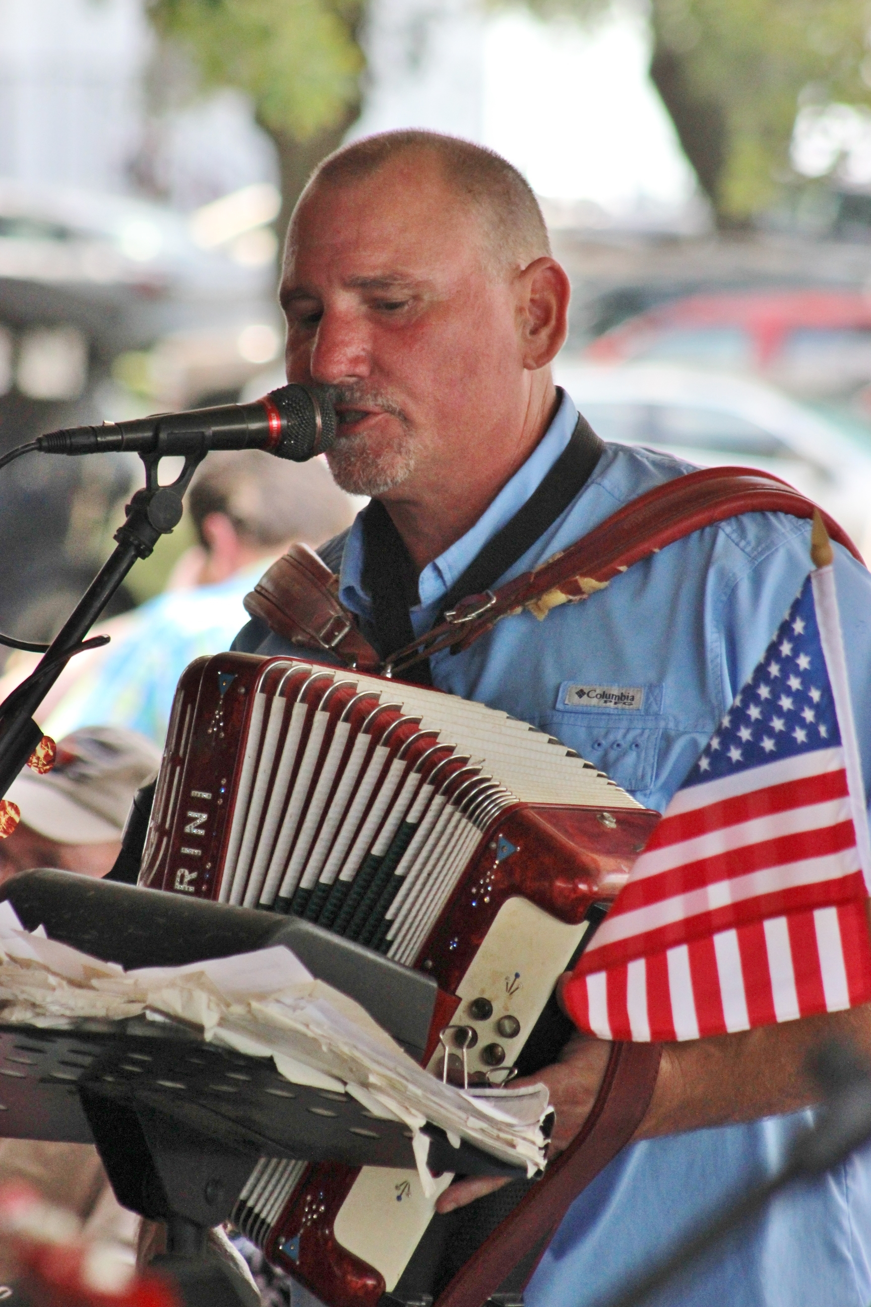 Mark at 2016 July 4th St. John picnic. Dujka Brothers have been performing at the picnic since 1987.