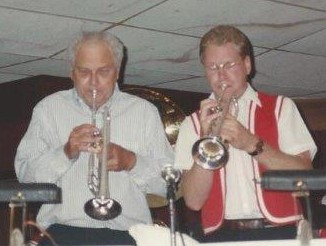 DZ with his dad, Raymond, in the Texas Dutchmen, 1990s