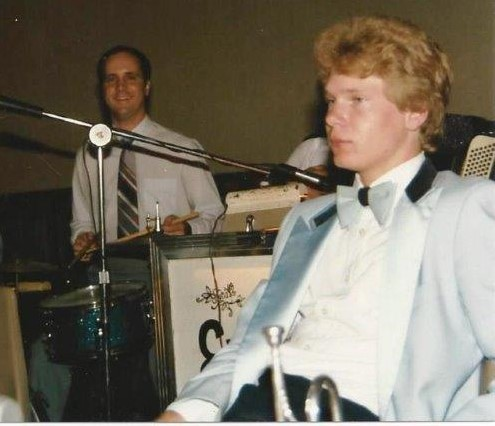 DZ with Ernie Kucera band, early 1990s