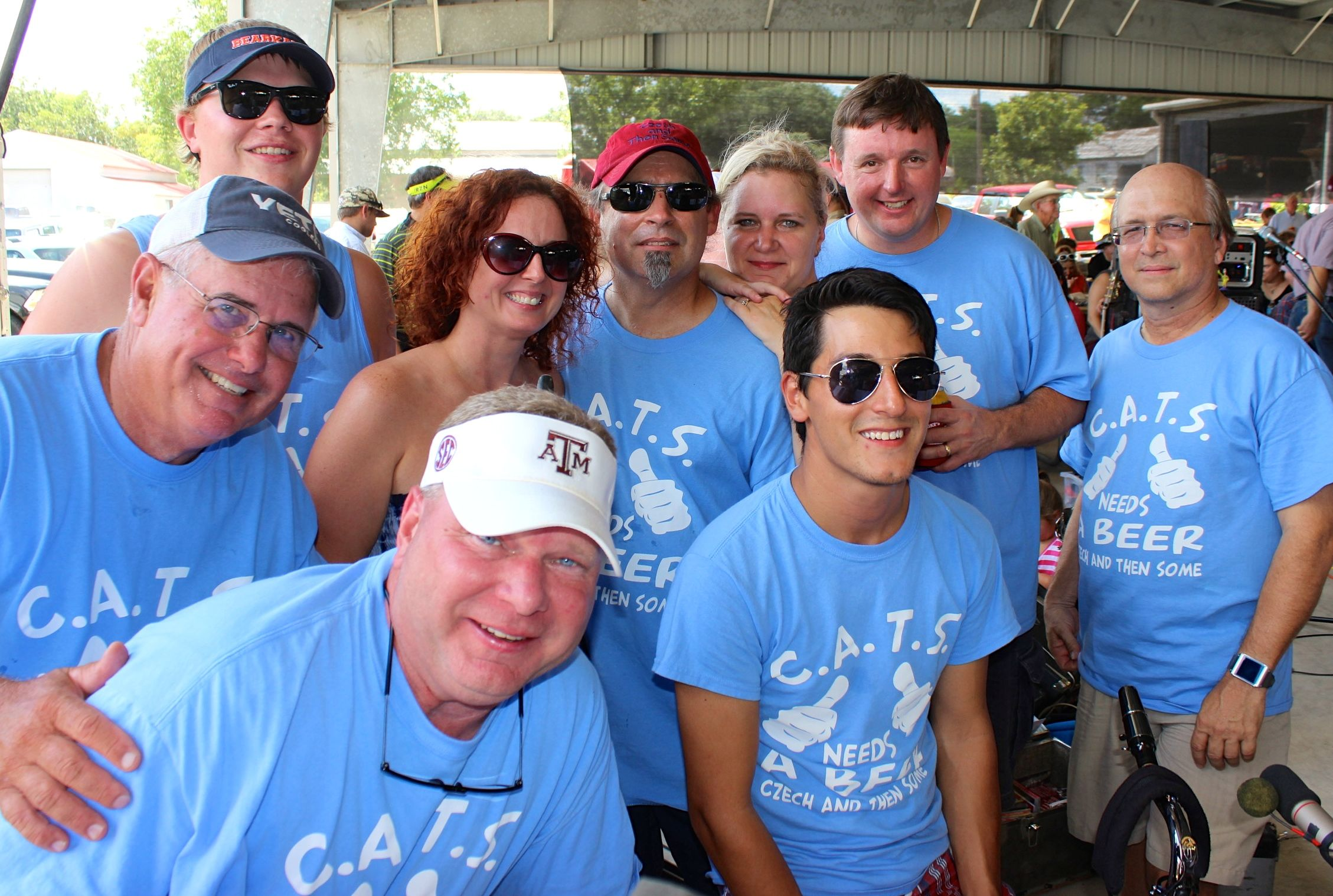 CATS at Praha Picnic - Josh Z, Sonny Patalik, Jennifer Slovak, John Schumacher, Michelle & David Slovak, Dave Czarnek, DZ, Zeke Martinez/ Gary McKee photo
