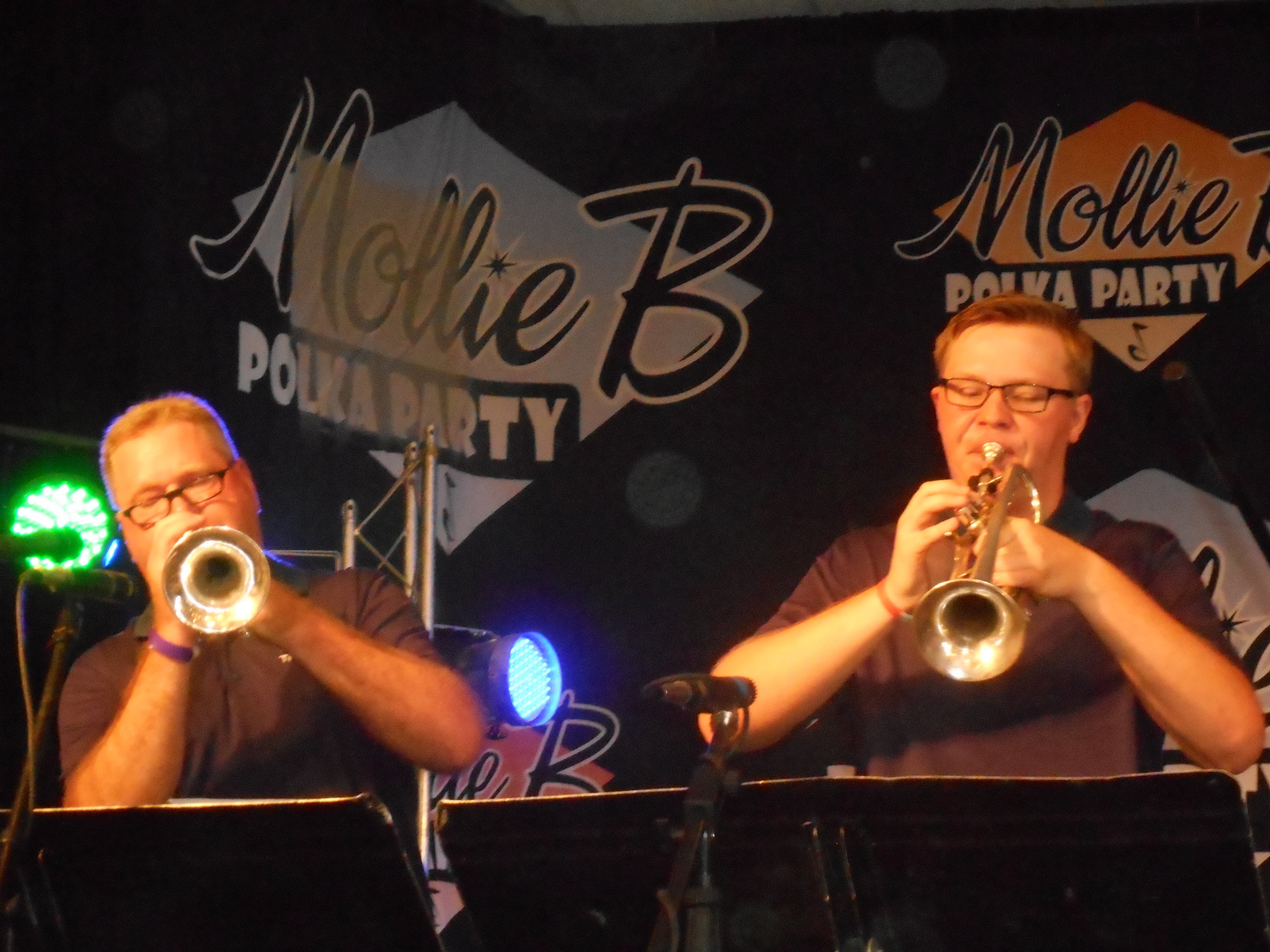DZ with his son, Josh in CATS, at Mollie B Polka Party taping, 2016