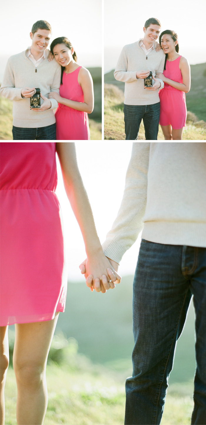 Sylvie-Gil-Engagement-Film-Photography-pink-couple-vintage-kodak-camera-holding-hands.jpg