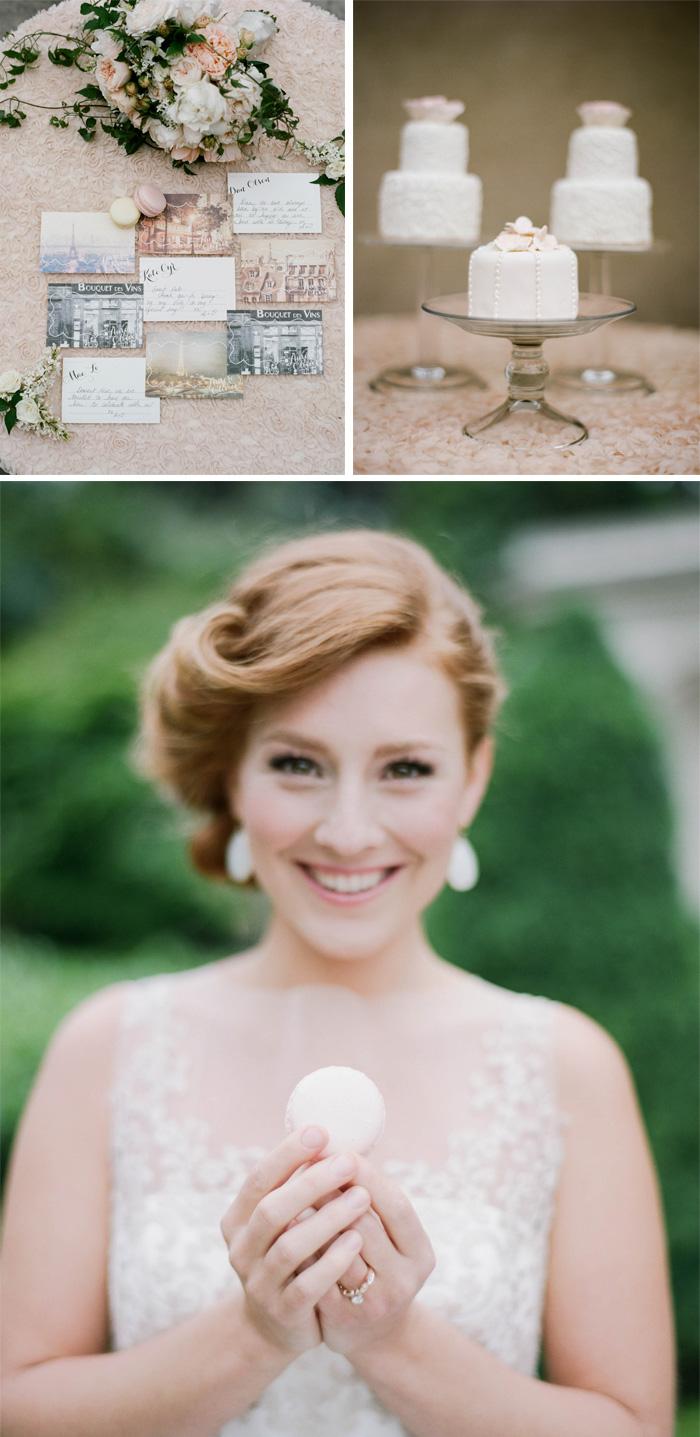 Macaron wedding favors and postcard thank you notes for San Francisco City Hall wedding; Sylvie Gil Photography