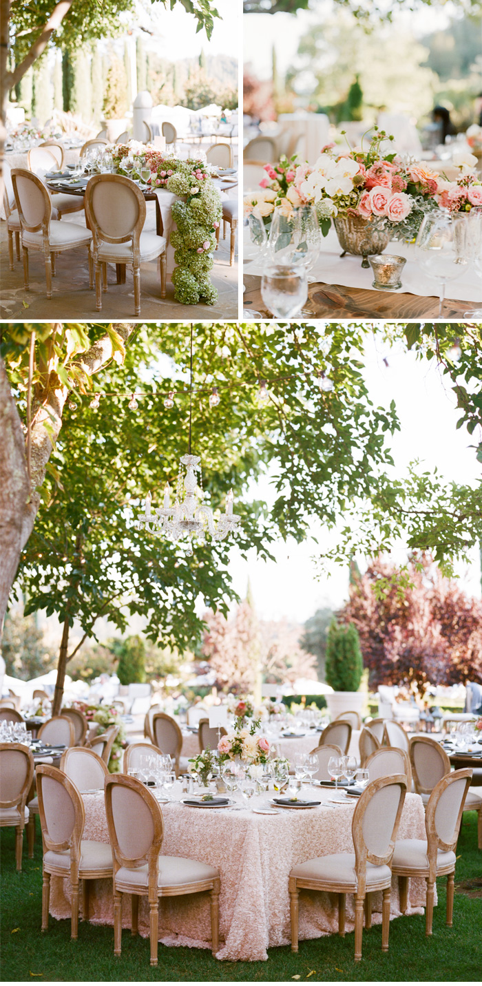 SylvieGIl-Film-Wedding-Photography-Black-Swan-Lake-Napa-Sonoma-California-Outdoor-Table-Setting-Flowers-outdoor-reception-Swimming -Pool-Hydrangea