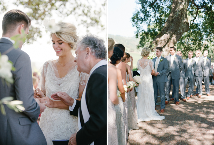 Sylvie-Gil-film-destination-photography-Kunde-winery-Napa-Valley-elegant-shabby-chic-bride-groom-exchange-rings