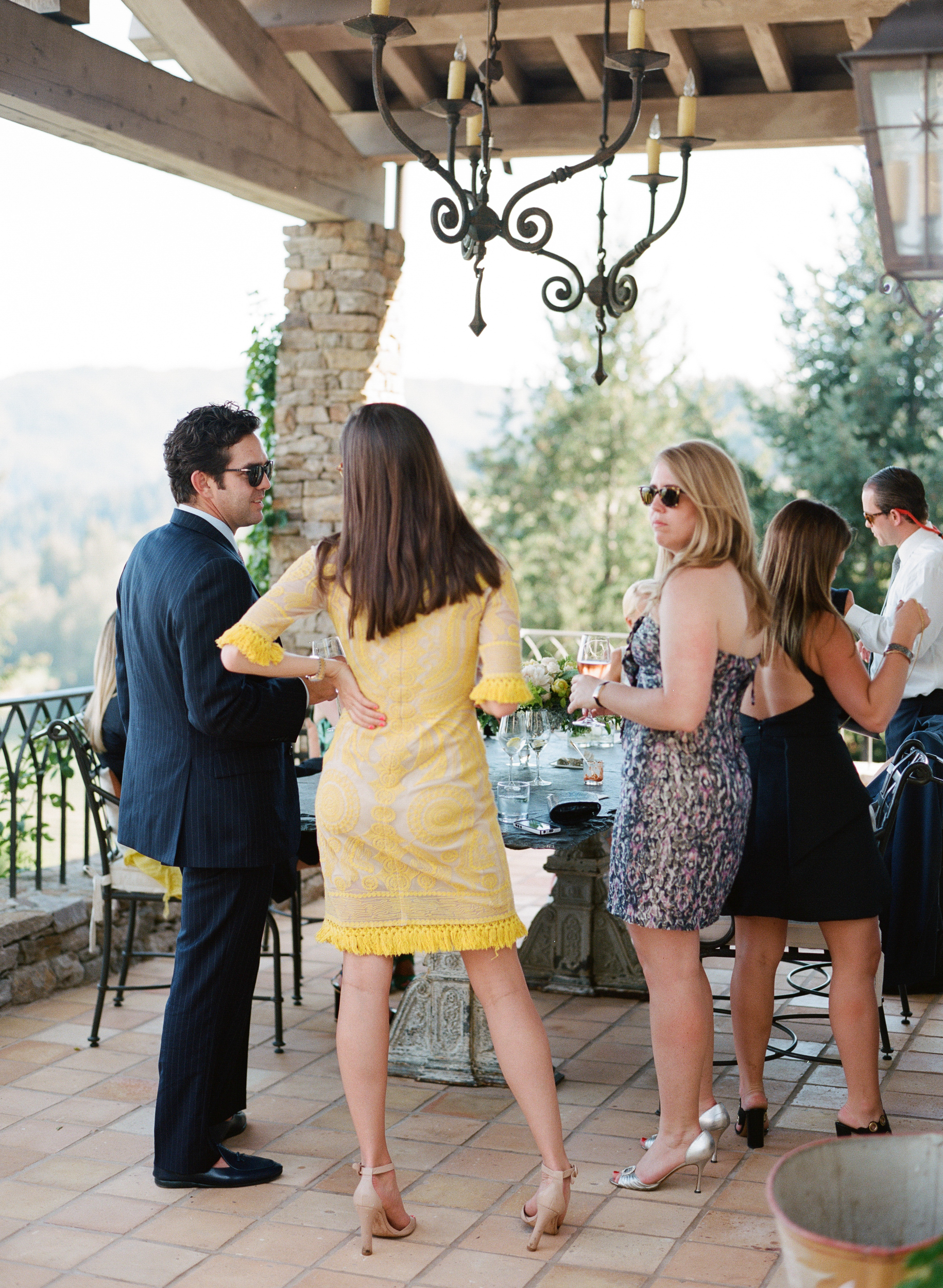 Guests enjoyed the summery weather following the ceremony; photo by Sylvie Gil
