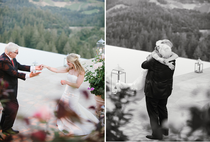 The father daughter dance was filled with sweet moments, especially when Sarah jumped into her dad's arms; photo by Sylvie Gil