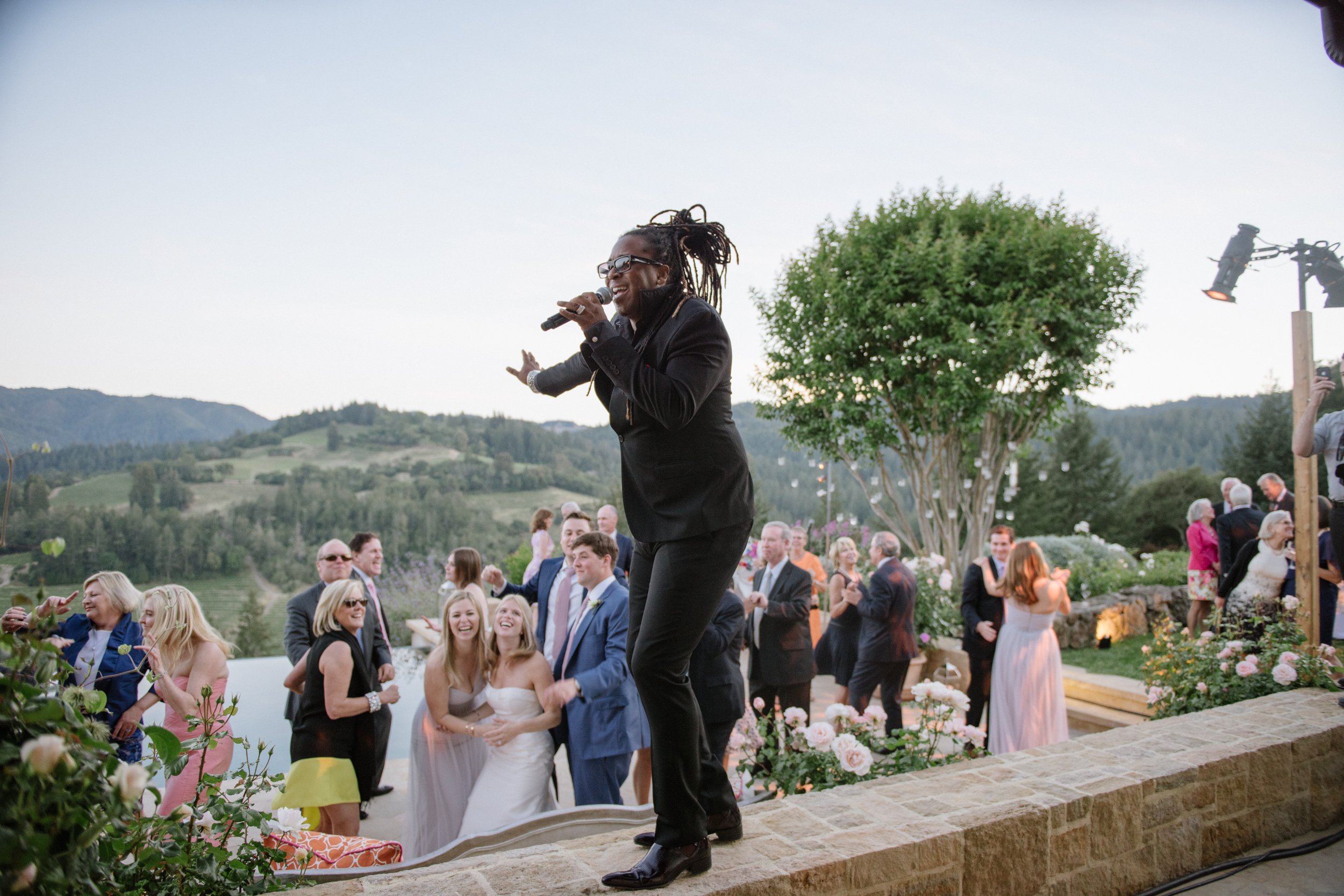 The wedding band provided an energetic backdrop to the reception evening; photo by Sylvie Gil