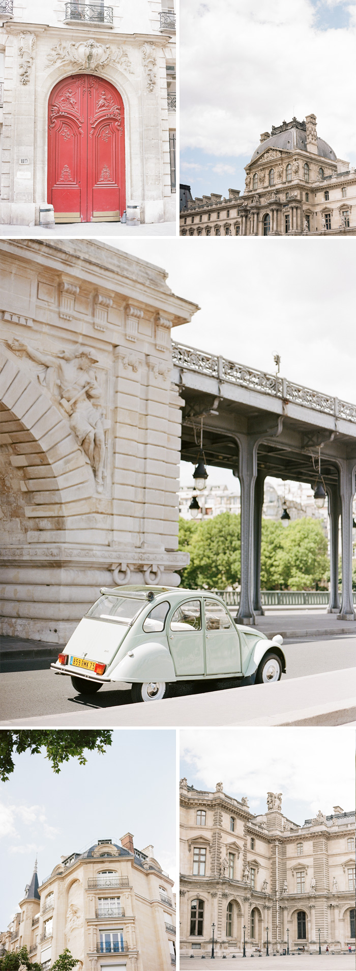 Examples of classic Parisian architecture as well as the Bir Hakeim Bridge; photo by Sylvie GIl